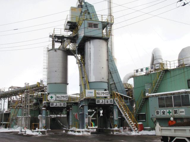 アスファルト再生プラント 東工場の外観